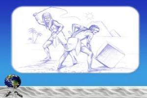 Рабский труд под наблюдением надсмотрщика
